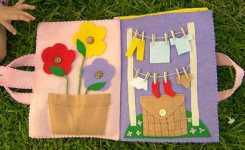 DIY stoffen babyboekje